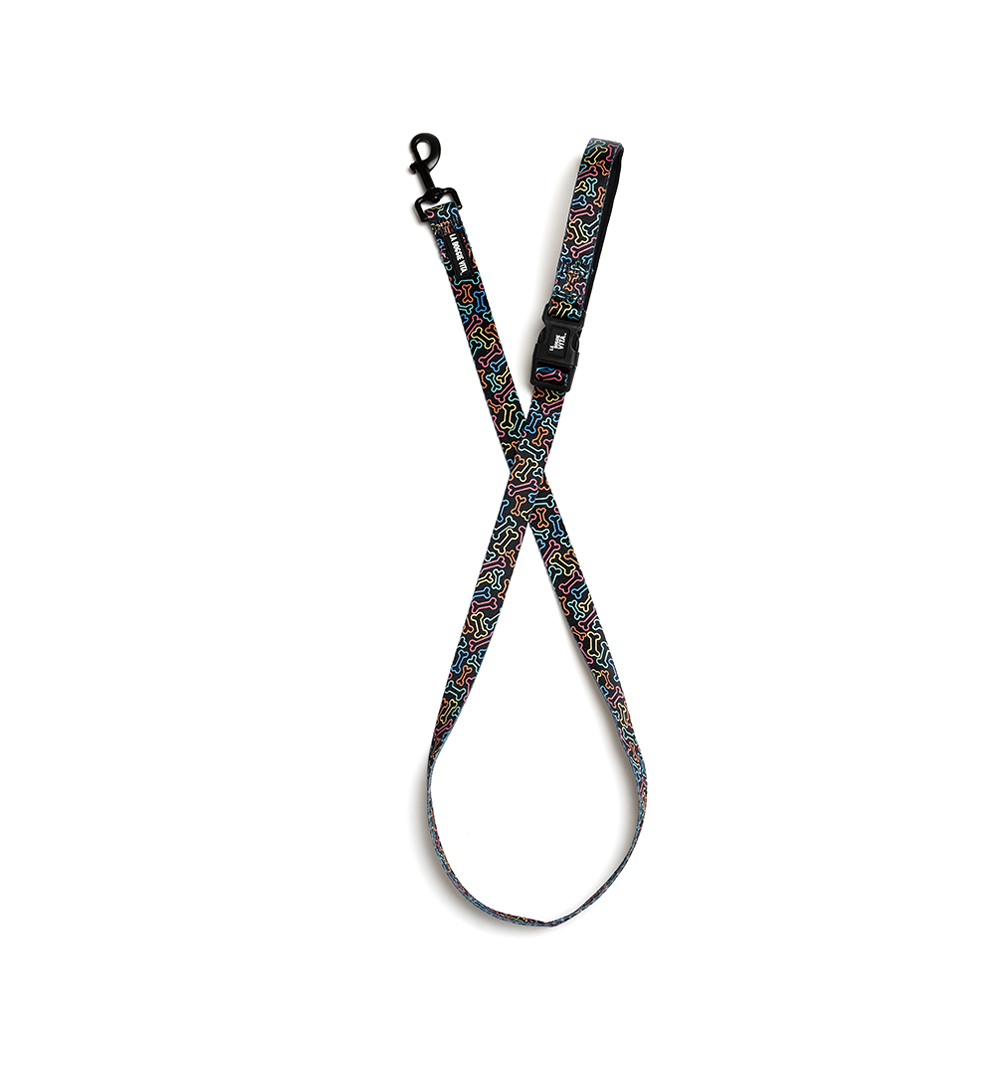 Neon Bone Lead - Black
