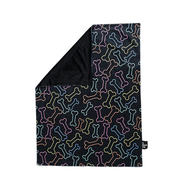 Neon Bone Blanket - Black