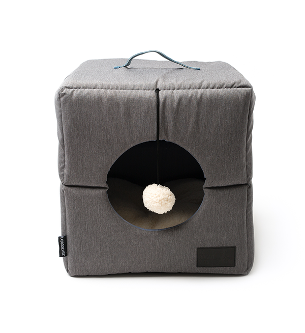 Water Resistant Nordic Foldable Grey Cat Cube