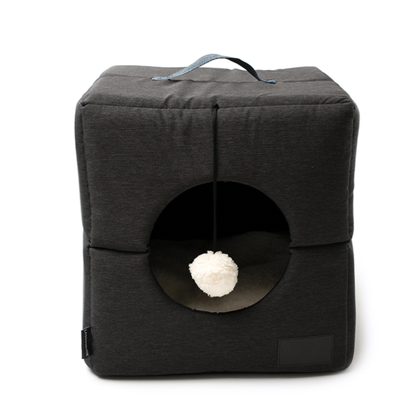 Water Resistant Nordic Foldable Charcoal Cat Cube