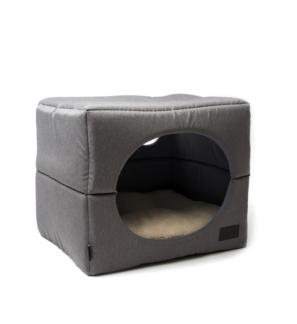 Water Resistant Dog Cube Grey