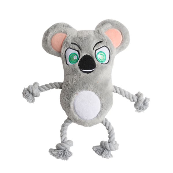 Krazy Koala Plush Rope Toy With Squeaker