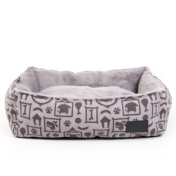Silhouette Print Square Bed