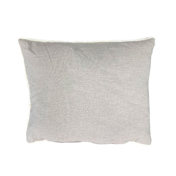 Linen Look LUXE Trim Stone Grey High Side Bed Spare Cushion