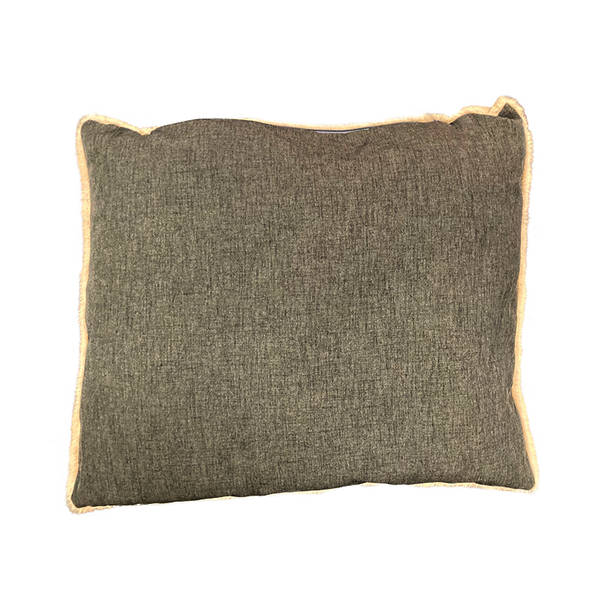 Linen Look LUXE Trim Terra (Charcoal Fleck) High Side Bed Spare Cushion