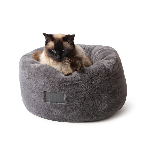 Charcoal Luxe Plush Donut