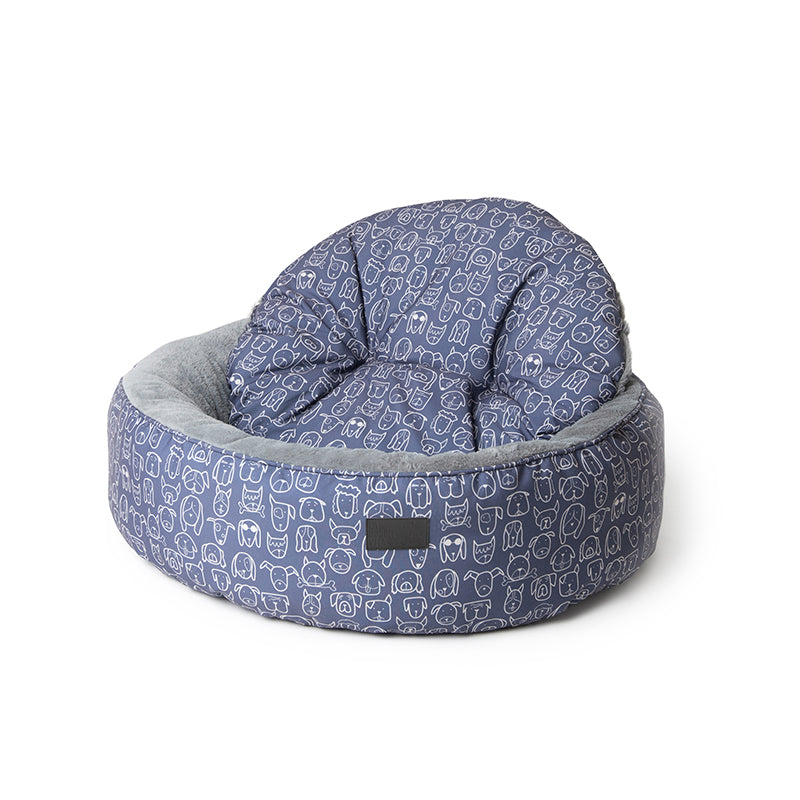 Dog Central Indigo Removable Cushion Round Bed