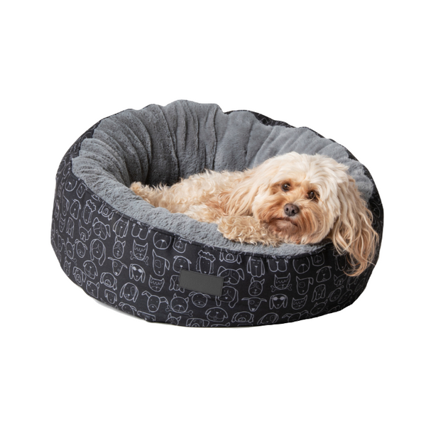 Dog Central Black Removable Cushion Round Bed