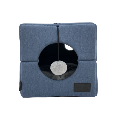 Slate Marle 'Up or Down' Cat Cube