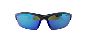 CRUISER    SHINY BLACK / BLUE WHITE MIRROR LENS