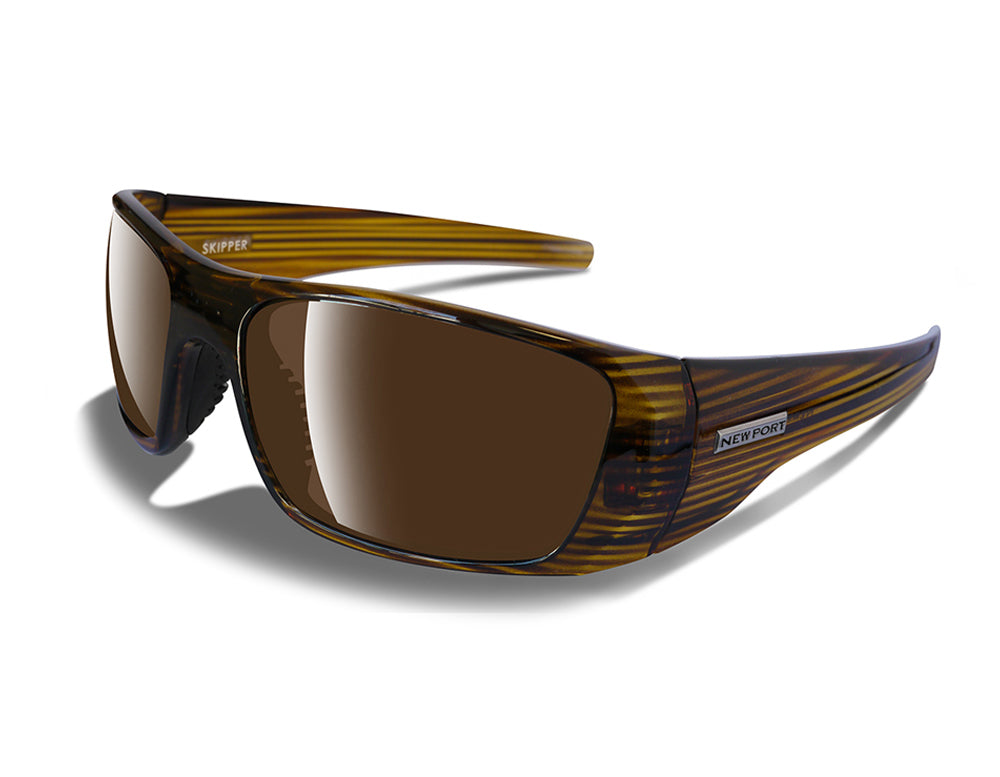 SKIPPER   BROWN STRIPE / AMBER LENS