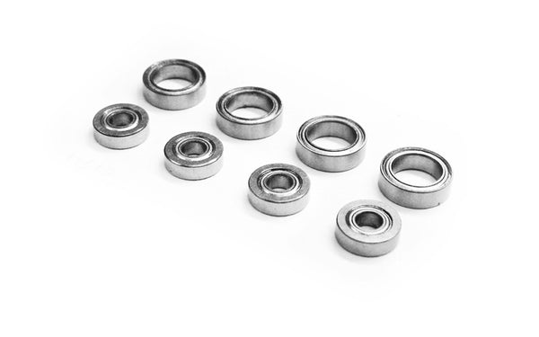 M40 S 4x10x3 & 8x12x3.5mm Ball Bearings/Races (x8)