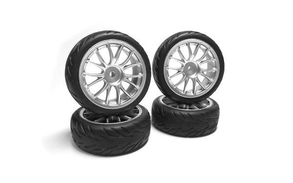 GT14 Pre-glued Wheels & Tyres (x4)