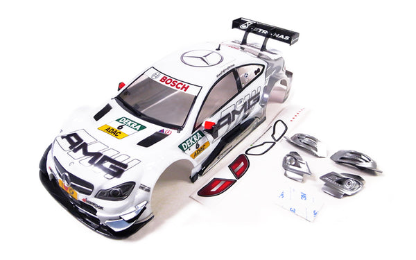 GT10 RS 1/10 Mercedes AMG C Coupe DTM 2014 #6 (White) Painted Body