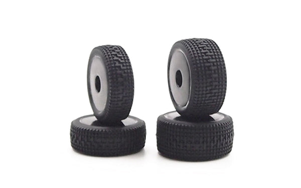 GT24 Black Wheels & Pre-mounted Mini Pins Rally Tyres