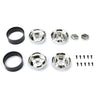 SCA-1E 1.9 Chrome Plastic Beadlock Wheels (x2)