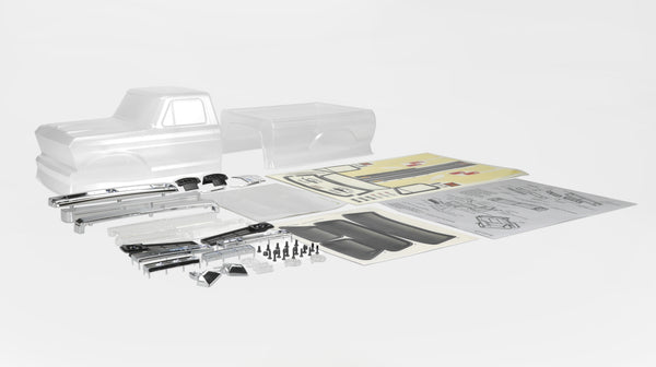 SCA-1E 1976 Ford F-150 (Half Cab) 2-Piece Clear Body Set (324WB)