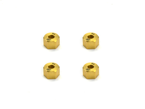 SCA-1E Brass Wheel Hex Set (x4)