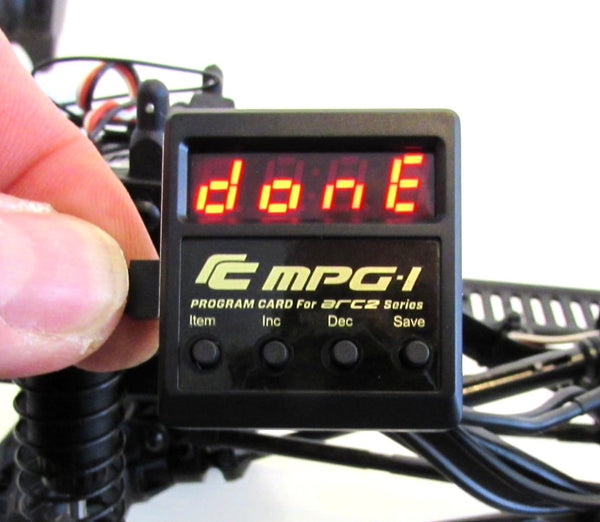 ARC-2 Brushed ESC (3s Compatible) with MPG-1 Program Box