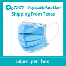 Load image into Gallery viewer, Branded 3-layer mask, 50pcs/box Personal protection, Disposable Face Mask