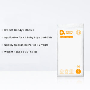 Daddy's Choice Extra Soft Diaper Pants, Size 3/4/5/6, Free shipping to US and Canada.