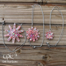 Load image into Gallery viewer, Chunky Glitter Spur Rowel Necklaces