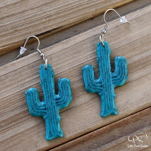 Load image into Gallery viewer, Turquoise Cactus Earrings