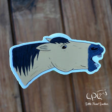 Load image into Gallery viewer, Angry Buckskin Horse Sticker