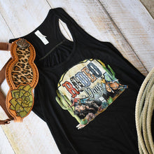 Load image into Gallery viewer, Rodeo Days Women's Flowy Racerback Tank