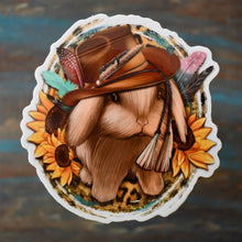 Load image into Gallery viewer, Cowboy Bunny Sticker