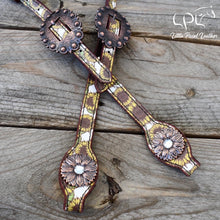 Load image into Gallery viewer, Sunflower Print Headstall