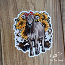 Load image into Gallery viewer, Sunflower Cow Sticker