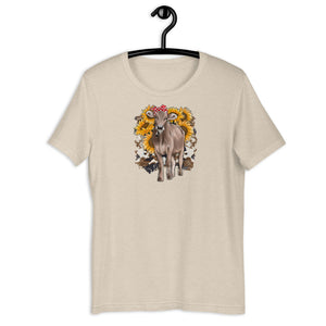 Unisex Sunflower Cow Tee