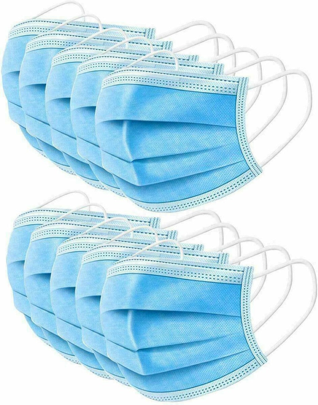 50PC Disposable Face Mas-k Dental Industrial 3Ply Ear Loop