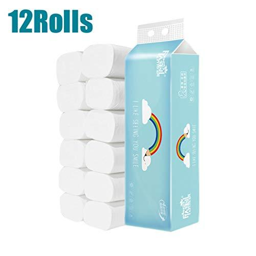12 Rolls Paper Towels, White Multifold Family Towels Per Roll,Toilet Paper