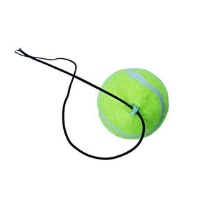 FINA Trainer Rebound Ball with Rope - Wool Elastic Rope and Rubber Ball Tennis Equipment Practice Training Device for Adults and Kids