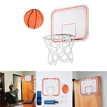 Load image into Gallery viewer, Mini Wall Basketball Over The Door Basketball Hoop Indoor Toys Set