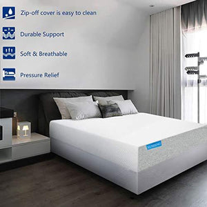 KUNPENG Queen Mattress, Gel Memory Foam Mattress