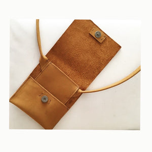 nubuck leather phone bag