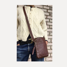 Load image into Gallery viewer, simple & chic this cognac colored crossbody is an easy add to your everyday look.
