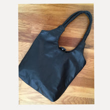 Load image into Gallery viewer, beautiful black leather hobo with just the right detail... $175 shipped