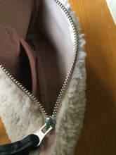 Load image into Gallery viewer, palest pink shearling has a smooth & soft leather inside...with a lambskin inside pocket.
