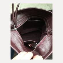 Load image into Gallery viewer, *NEW* deep plum bucket bag