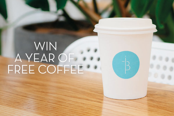 WIN A YEAR OF FREE COFFEE!