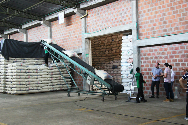 Loading Bags in mass amounts - Specialty Coffee Roasters Melbourne