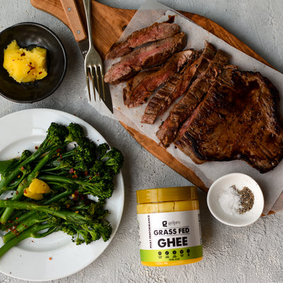 Skirt Steak with Charred Broccolini