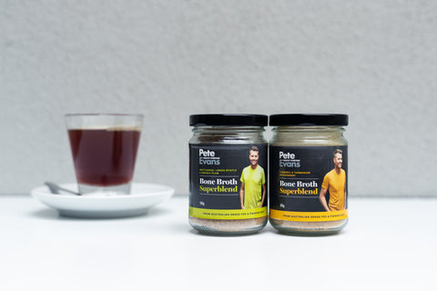 Pete Evans Dehydrated Beef Bone Broth with Tasmanian Pepperberry & Turmeric- 100grams