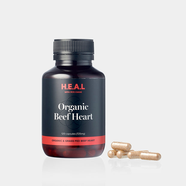 Pete Evans Organic Grass Fed Beef Heart Capsules - 120 Caps
