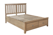 Litchfield Wooden Bed with Headboard and Drawer Footboard Set