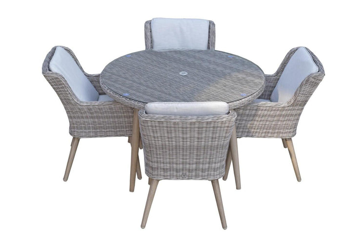 Danielle 4 seat round dining set